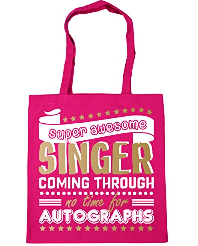 Autographs 42cm 10 Through Gym litres x38cm Singer HippoWarehouse Awesome No Fuchsia Shopping Time For Tote Bag Beach Coming Super fnSqa8