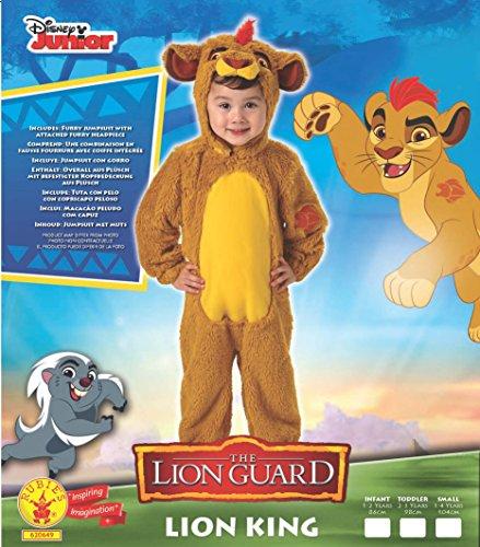 El Rey León - Disfraz de león Deluxe para niño, infantil talla S (3-4 años)