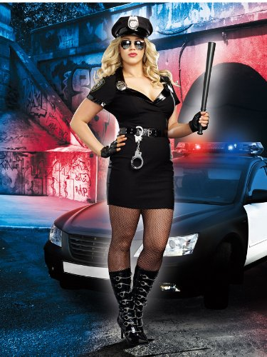 Dirty Cop Officer Anita Bribe Plus Size Costume - Plus Size Police Woman Halloween Costumes