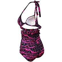 Color Mood Pretty Hot colorful Retro Floral Halter High Waist Bikini Carnival Swimsuit