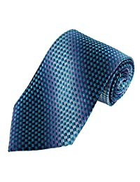 DAA7B21D Dark Turquoise Patterned Comfort Father Tie Woven Microfiber Business- Casual Necktie By Dan Smith