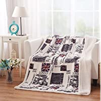 """Ustide Wolf Sherpa Throw Blanket Super Soft and Thick Blanket Warm Hugs Comfort Caring Gift All Season Blanket for Bedroom Couch Cover 51""""x63"""""""