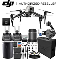 DJI Inspire 2 Quadcopter (CinemaDNG and Apple ProRes Licenses Included) with Zenmuse X7 Camera, 16mm f/2.8 ASPH ND Lens & Extra Cendence Remote Controller Bundle