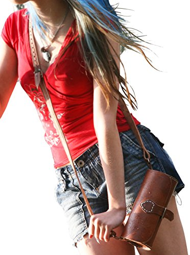 "Gusti Leder nature ""Molly"" Handtasche Umhängetasche Vintage Disco Party Täschchen Damen Rolle Ledertasche Universität Neu Hellbraun H12"