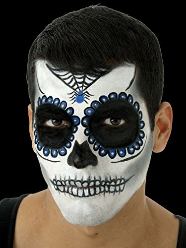 Day Of The Dead Male Makeup Kit (Cinema Secrets Day of The Dead Complete Makeup Kit - Blue)