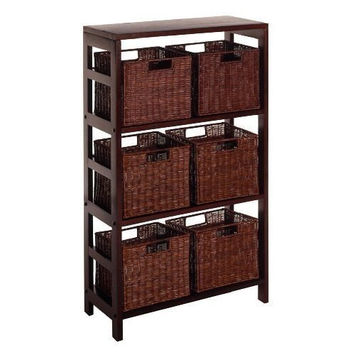 Luxury Home Leo 7-piece Shelf and Baskets