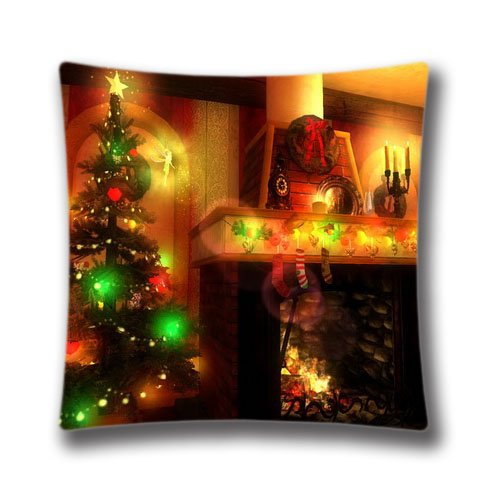 Cute Halloween Screensaver (Christmas Magic 3D screensaver 16 x 16-Inch Decorative Home Cotton Square Throw Pillow Cover Cushion Case Handmade Pillowcase)