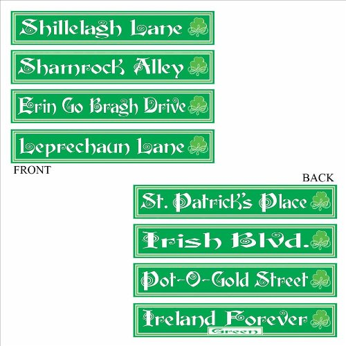 [St Patrick's Day Street Sign Cutouts   (4/Pkg)] (Street Sign Halloween Costumes)