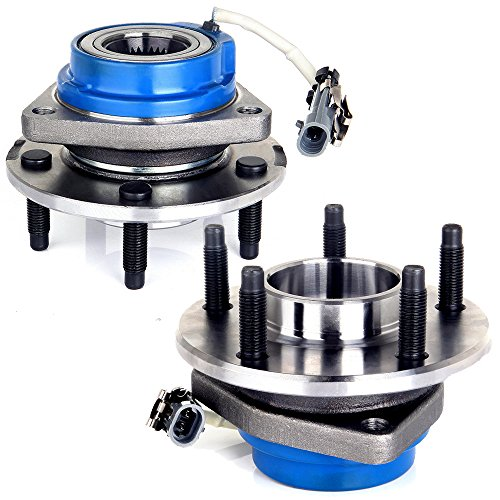 ECCPP Replacement fit for 513121 Wheel Bearing Hub Front Wheel Hub and Bearing Assembly Allure, Aurora, Bonnevile, Century, Impala 5 Lug W/ABS 2PCS ()