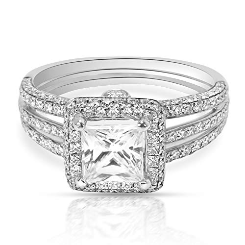 (BRAND NEW Simon G Halo Diamond Engagement Ring Setting in 18K White Gold 0.62CTW)