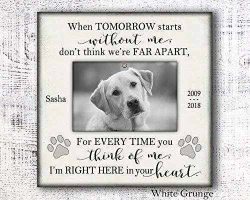 Dog Memorial Photo Picture Frame Personalized Pet Memorial Pet Loss Gift