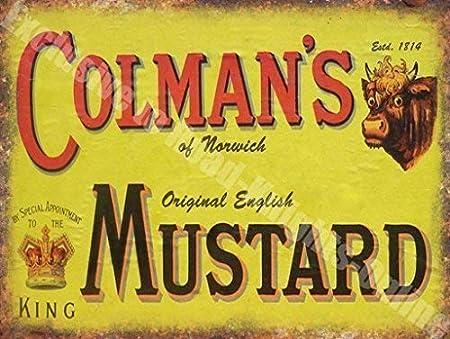 Colmans Mostaza Anuncio Vintage cocina café Pub Metal ...