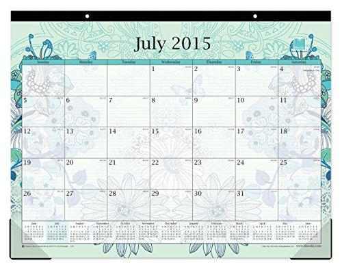 Blue Sky 2015 2016 Academic Year Desk Pad Calendar