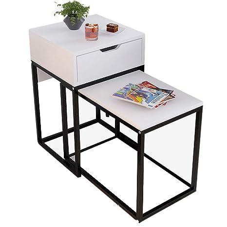 Amazon.com: Xiaoyan - Mesa auxiliar para sofá, mesita de ...