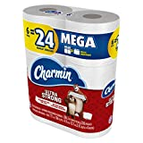 Charmin Ultra Strong Toilet Paper, 6 Mega Rolls Packaging May Vary