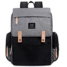 Land Backpack Diaper Bag for Mom/Dad, Baby Care Nappy Bag for Boys/Girls