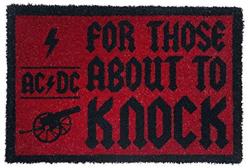 For Those About To Knock Felpudo Alfombra 60 x 40cm 1art1/® AC//DC