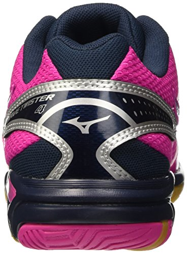 Mizuno Shoes Wave Twister Rosa Electric Volleyball Silver Women's Dressblues WOS RfR6w