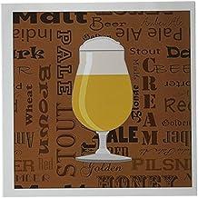 "3dRose Beer Lover Series Tulip Greeting Cards, 6"" x 6"", Set of 6 (gc_217261_1)"