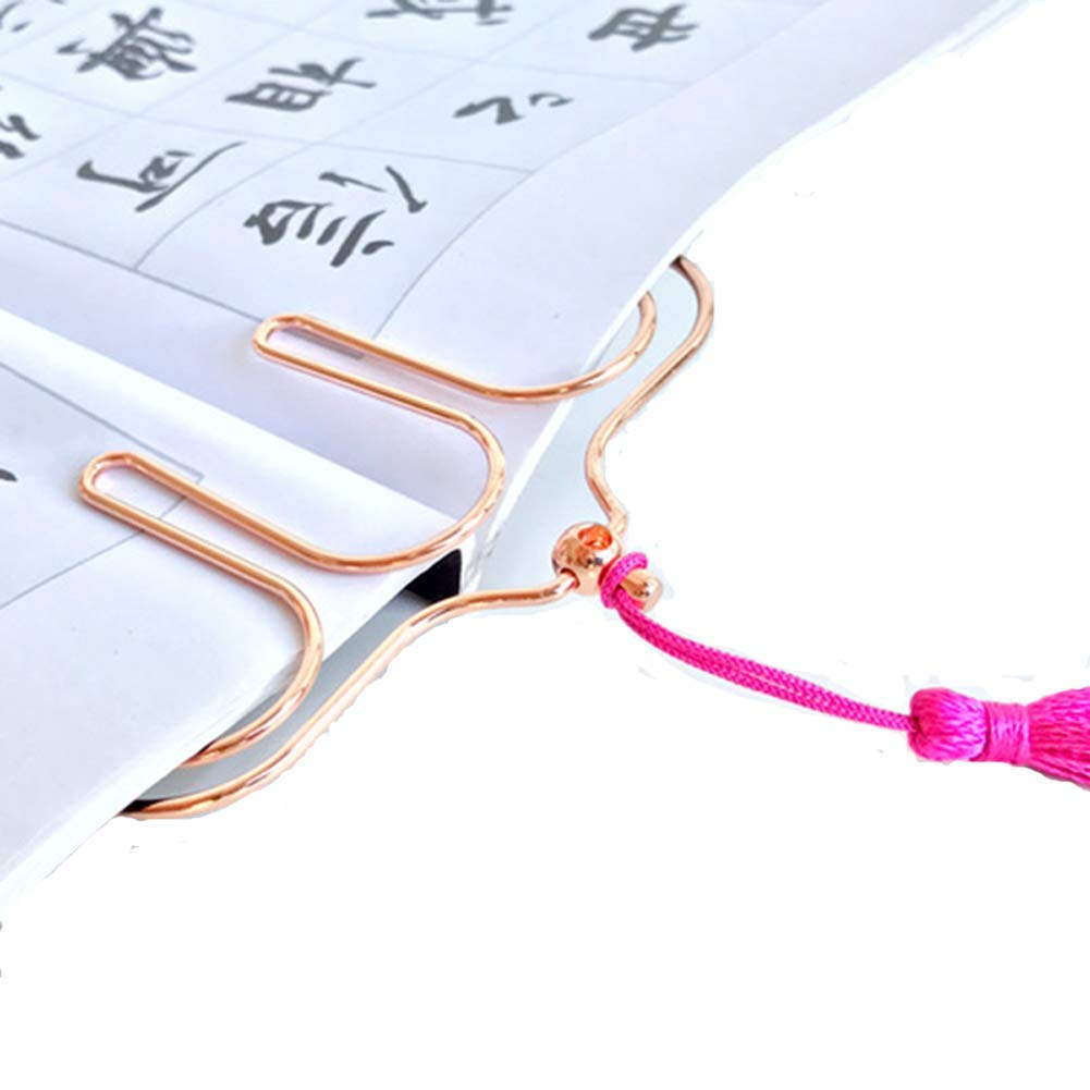 REHYSTG Piano Sheet Music Clip Metal Hollow Page Holder with Long Tassel