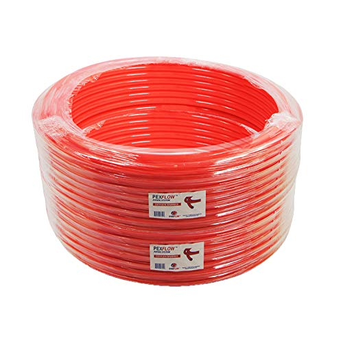 SUPPLY GIANT PFR-R121000 Oxygen Barrier PEX Tubing for Hydronic Radiant Floor Heating Systems, 1/2 Inch, Red