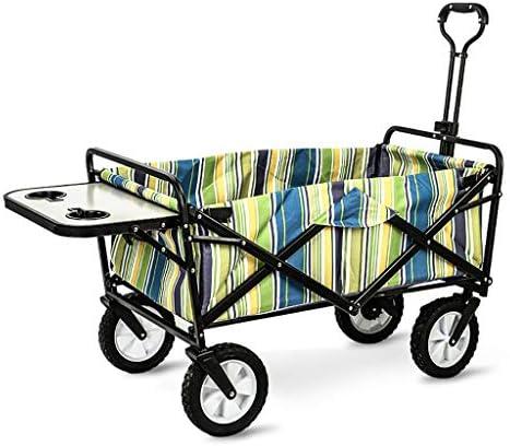 折りたたみビーチワゴン 収穫台車・キャリー 折りたたみ式ガーデントロリーカート 多機能ヘビーデューティーワゴン ために アウトドア キャンプ ピクニック 釣り ショッピングカート テーブルボードを使用すると、 積載量:80kg (Color : B)