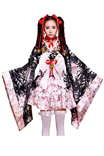 Sexy Geisha Outfits (Anime Cosplay Fancy Dress Lolita Halloween Japanese Kimono Costumes (XX-Large))