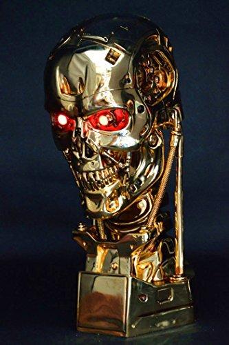 Gmasking Terminator 2 T800 Endoskeleton Skull Statue Gold Scale 1:1 Replica