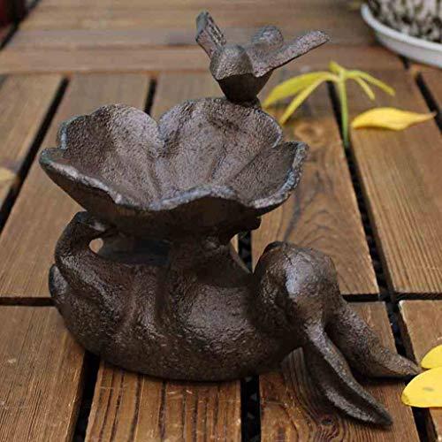 SLH European Cast Iron Crafts Rabbit Bird Flower Ashtray Candle Holder Bird Food Bowl Storage Tray Home Decoration Ornaments