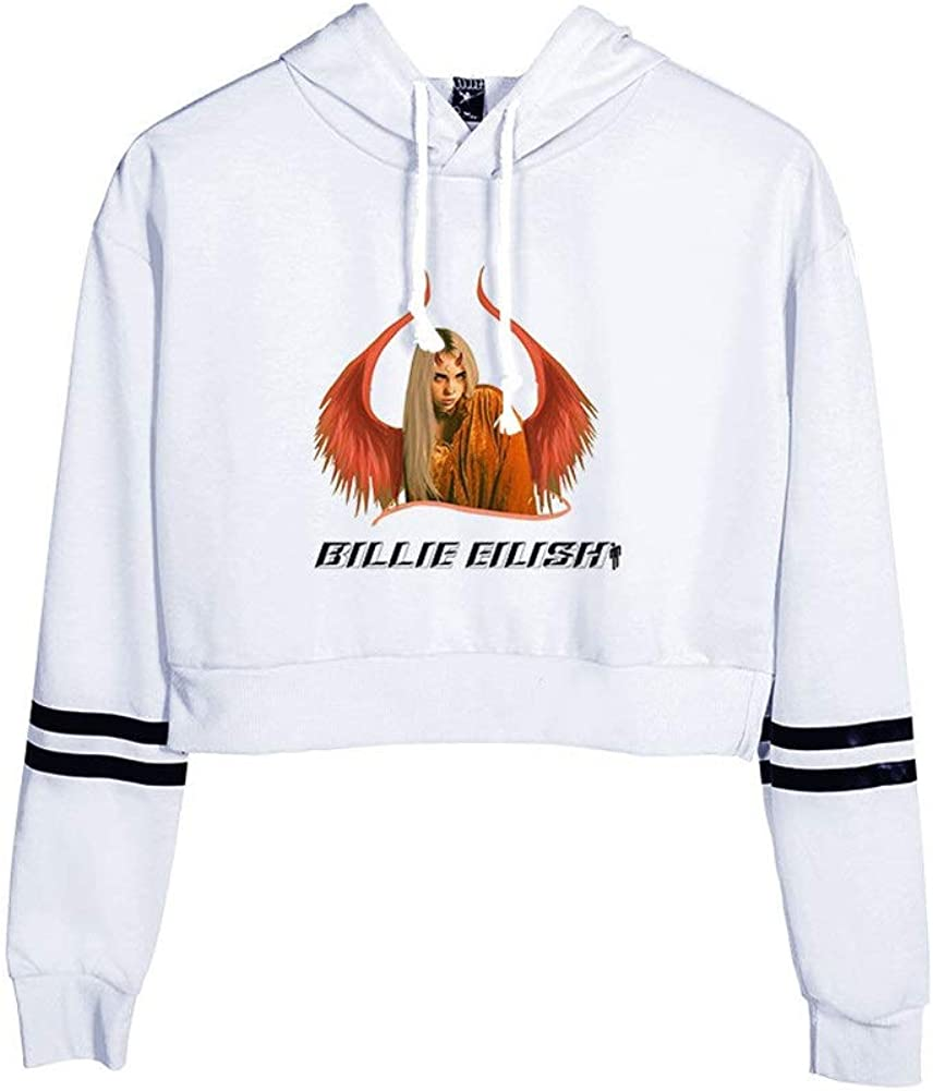Les Filles T-Shirt /à Capuche l/âche Taille Plus imprim/é /à Capuchon Unisexe 3D Sport Sweat-Shirt /à Capuche Billie Eilish