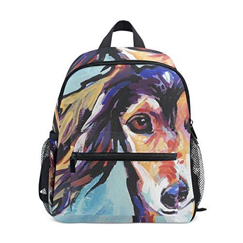 Kids School Bag Backpack Saluki Hound Children Bookbag
