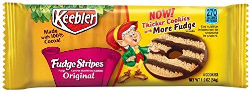 Keebler Fudge Stripes Cookies - 1.9 oz Pack (12 Packs)