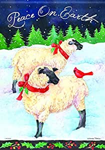 Carson Home Accents Holiday Sheep Trends Classic Garden Flag