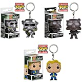 fallout 3 power armor - Funko Pocket POP! Keychains - Fallout - SET OF 3 (Vault Boy & 2 Power Armors) (1.5 inch)