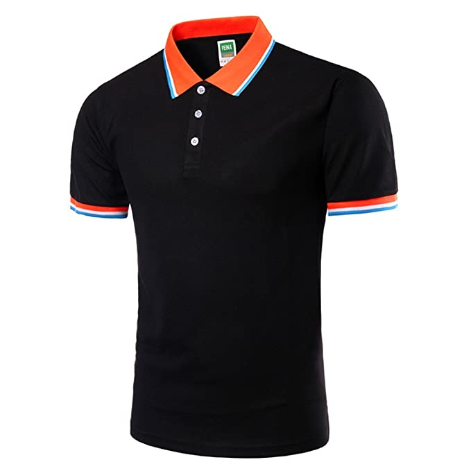 Cinnamou Camisas y Polos con Cuello de Solapa Manga Corta Regular ...