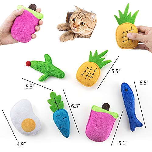 AWOOF Catnip Toys for Cats, Natural Catnip Kitten Toys Cat Toys Set 7