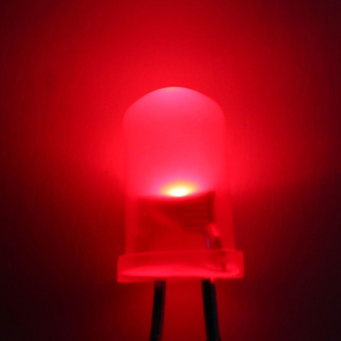 uxcell 100pcs 5mm Multicolor Fast Flashing Dynamics LED Diode Lights Bright Lighting Bulb Lamps Electronics Components Filcker Light Emitting Diodes 3-3.2V