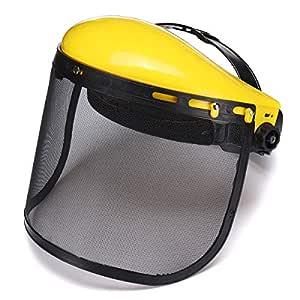 FATO. Seguridad Casco Amarillo Mascarilla facial de la motosierra ...