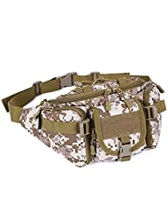 Protector Plus Tactical Waist Pack Pouch Waterproof Molle Fanny Hip Belt Bag (Light Brown)