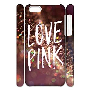 Love Pink Brand New 3D Cover Case for Iphone 5C,diy case cover ygtg569719