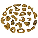 ALPIDEX 25 Climbing Holds - various hold types, ideale starter set, Colour:yellow-mottled
