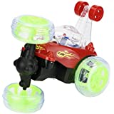 Uni_Uni 360° Spinning And Flips With Color Flash & Music For Kids Remote Control Truck (Red)