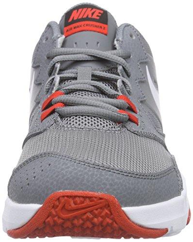 NikeAir Max Crusher 2 - Zapatillas Deportivas para Interior Hombre Gris / Blanco / Naranja (Cool Grey / White-Chllng Rd-Blck)