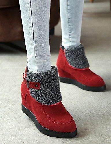 5 7 Beige Oficina us6 Red Marrón Botas us6 Cerrada Uk4 Casual negro Puntiagudos Cn37 Y Mujer Xzz Punta Eu37 5 5 De Bajo Ante Eu36 Uk4 Zapatos Trabajo Vestido Rojo Cn36 Tacón wxS1p