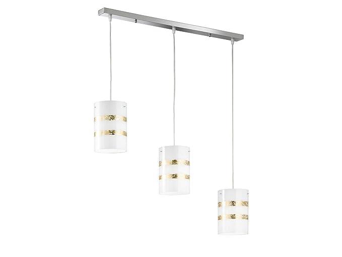 Nikosia - Lámpara de techo colgante decorativa con 3 luces y ...