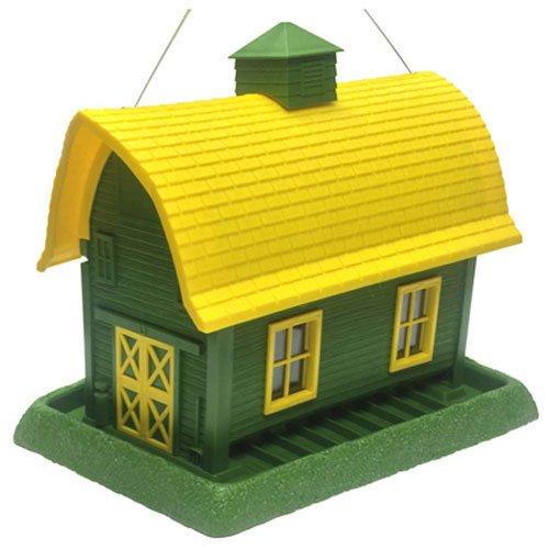 (Village Collection 061094 Garden Barn Birdfeeder, Large, Green)