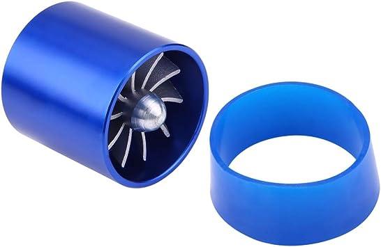Keenso 2.2//55mm Car Aluminum Alloy Air Intake Turbo Fan Turbine Fan Fuel Saver Turbo Intake Fan Charger