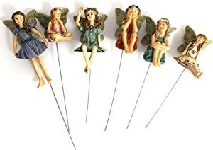 Fairy Garden - 6pcs Miniature Fairies Figurines Accessories for Outdoor Decor