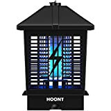 Hoont Powerful Electric Indoor Outdoor Bug Zapper with UV Light Trap - 1- 1/2 Acre Coverage / Fly Killer, Insect Killer, Mosquito Killer - For Residential, Commercial and Industrial Use [UPGRADED]