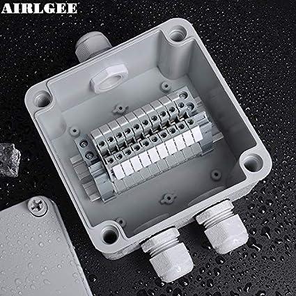 Strange Davitu 1 Inlet 2 Outlet Ip66 Abs Waterproof Junction Box Diy Outdoor Wiring Cloud Hisonuggs Outletorg